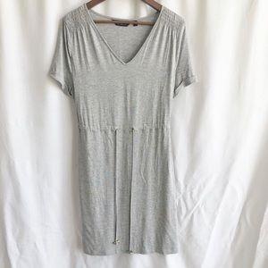 Dorthy Perkins grey tie waist short sleeve dress